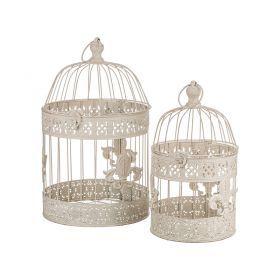 Набор клеток для птиц декоративных из 2-х шт.l:25*40,s:19*30 см-123-177
