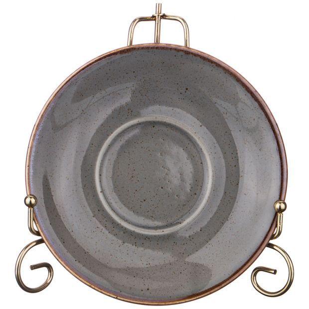 Блюдце для чашки seasons 16 см цвет темно-серый-664-111