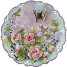 Тарелка настенная декоративная бабочка диаметр=20 см. высота=3 см.