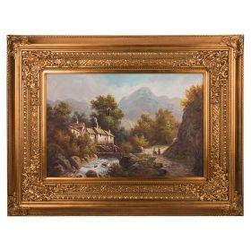 Картина масляная на холсте 89*59 см. багет 133*104 см.-107-1063