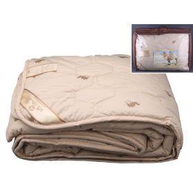 Одеяло 140*205 см. верблюжья шерсть, верх-тик х/б  2 вида