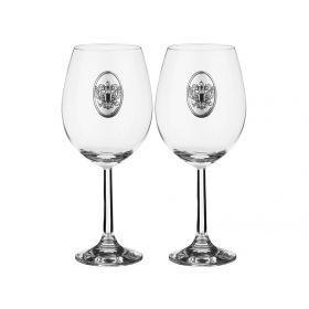 Набор бокалов для вина из 2 шт.россия 500 мл.высота=21 см.
