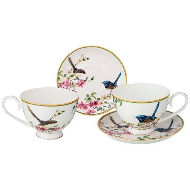 "Чайный набор на 2пер. ""цветущий сад"" 4 пр. 250мл (кор=12шт.)-104-556"