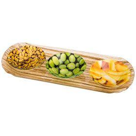 Набор для закусок 4 пр.: блюдо 28*10,5 см, 3 розетки, диаметр=8 см-33-138