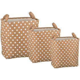 Набор корзин для белья с ручками из 3-х шт l: 43*34*42/m:39*30*39/s:35*26*37 см.
