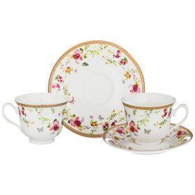 Чайный набор на 2 персоны 4пр. 220мл (кор=24наб.)-165-474