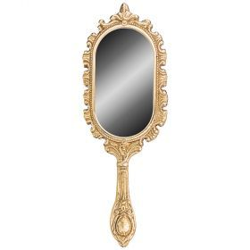 Зеркало с ручкой 27х9 см-646-102