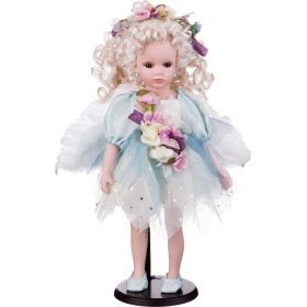Кукла фарфоровая высота=42 см.-346-225