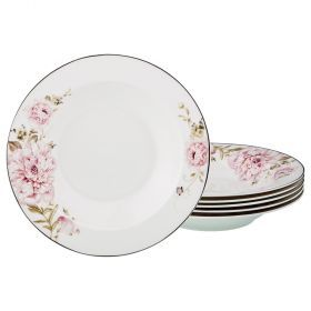 Набор из 6-ти суповых тарелок диаметр=23 см (кор=8набор.)-115-304
