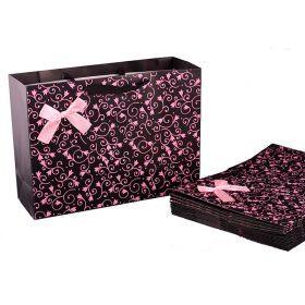 Комплект бумажных пакетов из 10 шт.36*26*12 см-521-002