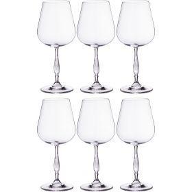 Набор бокалов для вина из 6 шт. «эвита» 450 мл. высота=22 см.-669-199