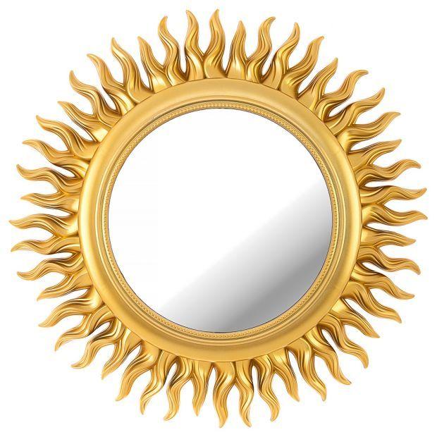"Зеркало настенное ""swiss home"" диаметр=47 см цвет: золото (кор=6шт.)-220-413"