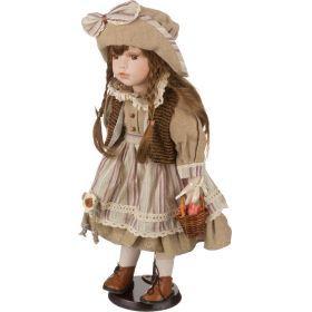 Фарфоровая кукла с мягконабивным туловищем высота=40 см.-485-224