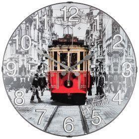 Часы настенные кварцевые диаметр 35,5 см диаметр циферблата 34,5 см (кор=10шт.)-207-325