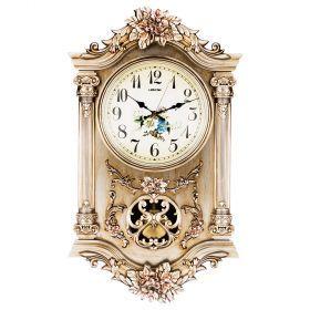 Часы настенные кварцевые с маятником 38*11,5*65 см. диаметр=23 см. (кор=5шт.)-204-231