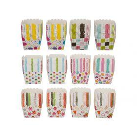 Набор бумажных форм для выпечки из 24 шт 6*6*5 см 6 цветов
