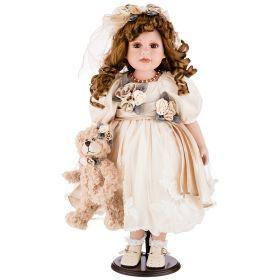 Кукла фарфоровая декоративная высота 55см-346-269