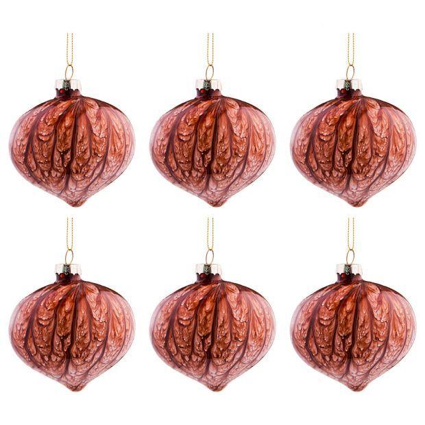 """Набор из 6-ти декоративных изделий коллекция мрамор""""шар"""" диаметр=8 см,высота=9 см цвет:бургундия-864-124"""