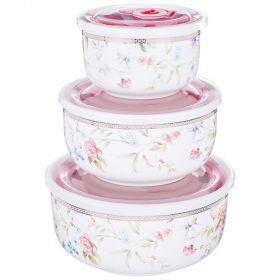 Набор контейнеров для пищевых продуктов из 3 шт. 1000/800/300 мл диаметр=15/13/10 см-274-899