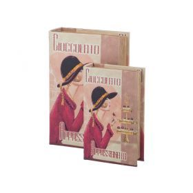 Комплект шкатулок-книг из 2 шт.27*18*7/21*13*5 см.