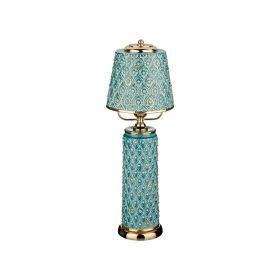 Светильник настольный высота=57 см.диаметр плафона=19 см.е27