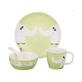 Набор посуды на 1 персону слоник:тарелка +миска + кружка+ложка 250 мл.