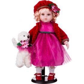 Кукла фарфоровая высота=36 см.-346-224