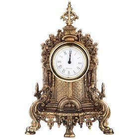 Часы настольные (кварцевые) высота 23 см диаметр циферблата 5 см-292-033