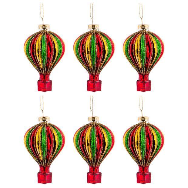 """Набор из 6-ти декоративных изделий """"воздушный шар"""" 6*10 см-864-114"""