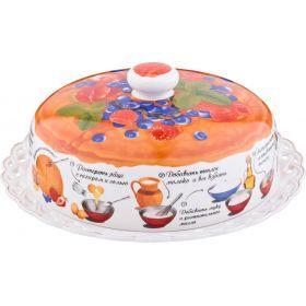 Блюдо для блинов с крышкой диаметр=25 см.-69-2503
