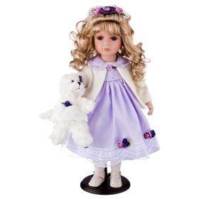 Кукла фарфоровая высота=46 см.(кор=6шт.)-346-131