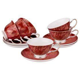 Чайный набор на 6 персон 12 пр. 200 мл-275-947