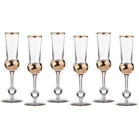 Набор бокалов для шампанского из 6 шт.150 мл.высота=24 см.-103-499