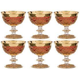 Набор бокалов для коктейлей из 6 шт.250 мл.высота=12 см.-103-515