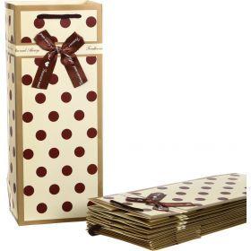 Комплект бумажных пакетов из 10 шт. 15*12*36 см.-521-056