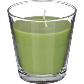 Ароматическая свеча в стакане диаметр=8 см. высота=9 см. цвет зеленый-602-070