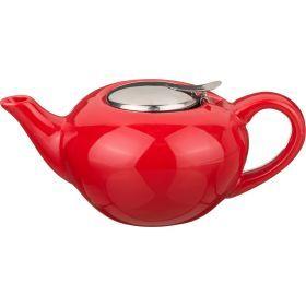Заварочный чайник с металл крышкой и  фильтром 800 мл.-444-100