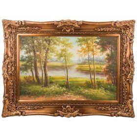 Картина масляная на холсте 90*60 см. багет 118*90 см.-107-1088