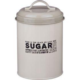 Емкость для сыпучих продуктов сахар высота=15 см.диаметр=11 см.