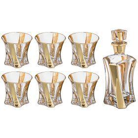 Набор для виски 7 пр.: штоф+6 стаканов 400/200 мл. высота=25/10 см.-103-612