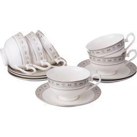 Чайный набор на 6 персон 12 пр.220 мл.-115-275