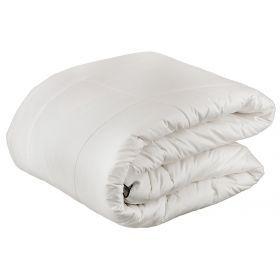 Одеяло merino 200*220 см, верх:100% хлопок, наполнитель:70% iшерсть/ 30% полиэстер, белый