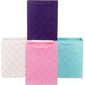 Комплект бумажных пакетов из 12 шт 23*18*10 см.4 вида-512-512