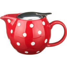 Заварочный чайник с металлической крышкой 400 мл. (кор=24шт.)-470-041