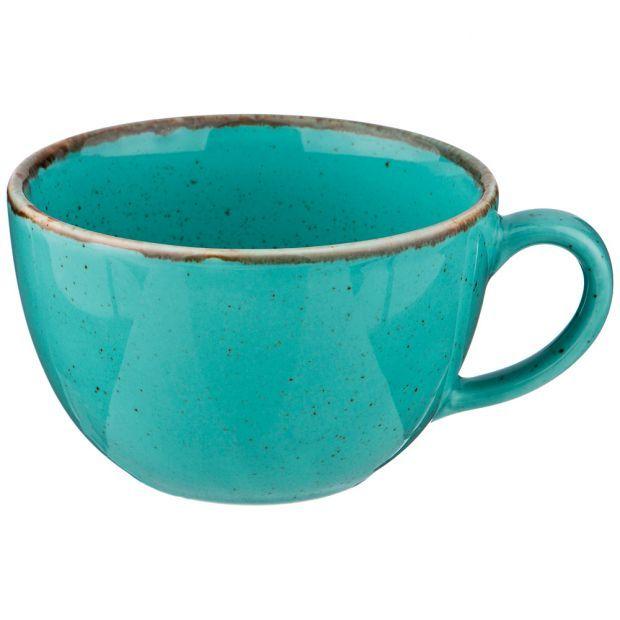 Чашка seasons 340 мл цвет бирюзовый (кор=24шт.)-664-210