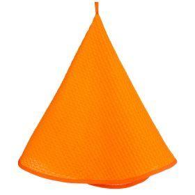 Полотенце круглое кухонное диаметр=75 см. оранжевое.-850-450-1