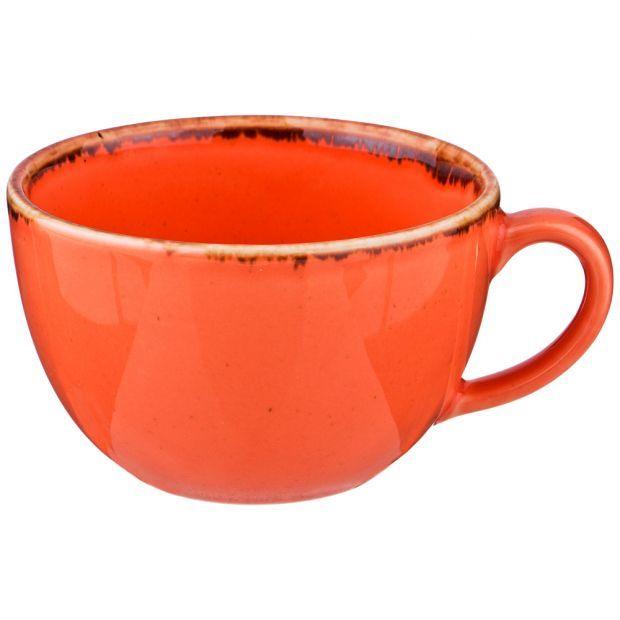 Чашка seasons 340 мл цвет оранжевый (кор=24шт.)-664-212