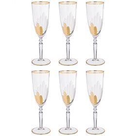 Набор бокалов для шампанского из 6 шт. 200 мл. высота=22 см.-103-578