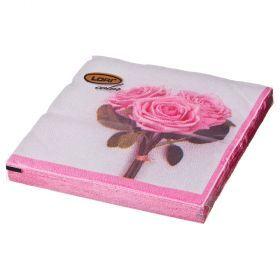 Салфетки бумажные 2-х слойные 33*33 см-423-233
