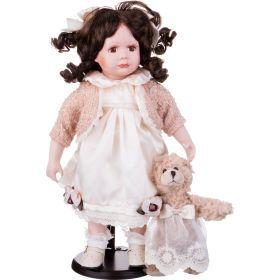Кукла фарфоровая высота=36 см.-346-230